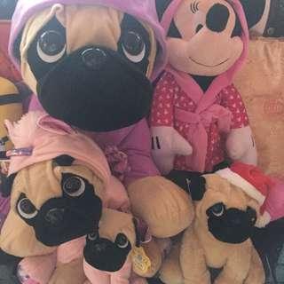 Marina bay carnival pug soft toys