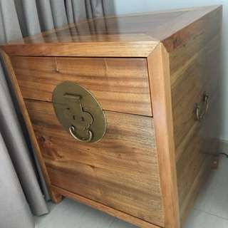 Chinese Two Drawer Camphor Wood Cabinet