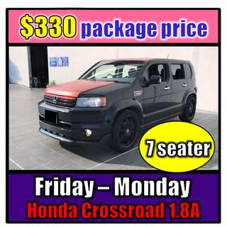 Fri to Mon Car Rental (3-Day Weekend Package) Honda Crossroad1.8A