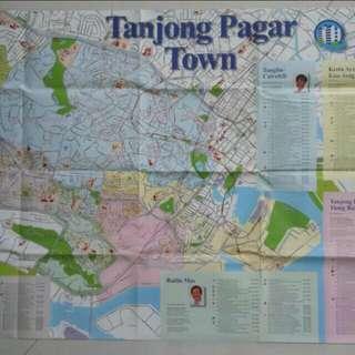 1m*0.70m Tanjong Pagar Town Map