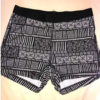 Cotton On Body - M - Black & White Bike Pants (Booty Shorts)