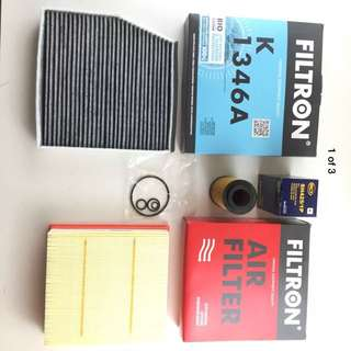 FILTER SET / PACKAGE OIL AIR ACTIVE CHARCOAL W246 180 200 220 CDI - Mercedes B-Class