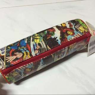 Marvel Comic Superheroes Ironman Thor Spider-Man Print Pencil Case