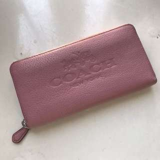 Coach 粉紅色銀包