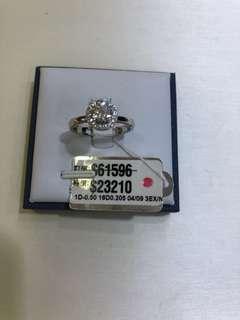18K 白金鑽石戒指吊咀(有GIA証書)