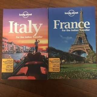 Lonely planet Travelling book France/Italy brand new