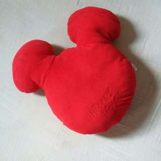 Cuddly Red Mickey Mouse Pillow
