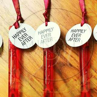 Back-to-Traditions Wedding Sash Bubble Wands