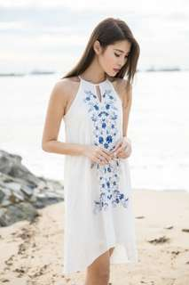 Thread Theory South Of The Border Embroidery Dress (White) in Size XS