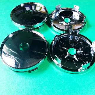 4pcs 60mm Diameter Plain Chrome-plated Sports Wheel Rim Center Hub Cap Cover Set Car Van MPV Minibus