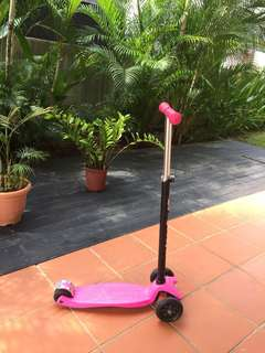 Girls Scooter Adjustable height