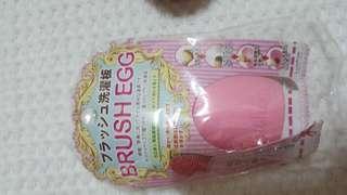Brush cleanser pad board brush egg