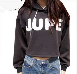 [PO] CASUAL JUPE CROPPED HOODIE