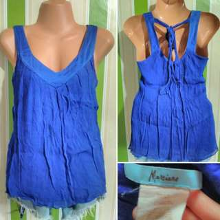 Marciano Blue sexy back top