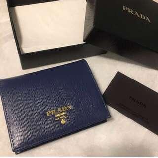 Prada wallet 樹紋藍色 二褶