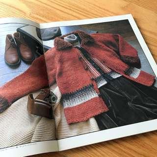Vintage Japan Knitting Craft Book - Men Sweater Jacket Vest Patterns