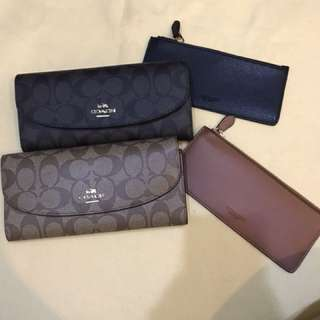 Original coach women long purse pouch coin bag