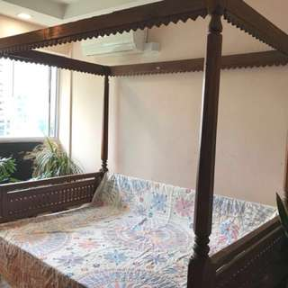 Balinese style bed frame
