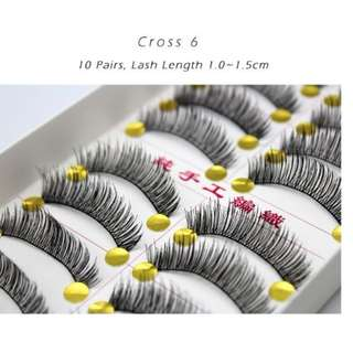 False Eyelashes♕Type Cross 6, Cross 7 & Cross 8 ♕