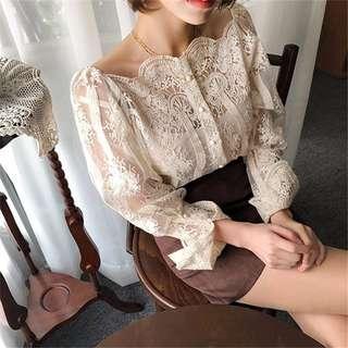 3月新款3.11✨韓版時尚蕾絲花紋露骨吊帶衫32193✨