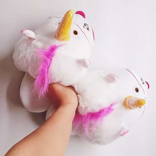 Fluffy Unicorn Slippers