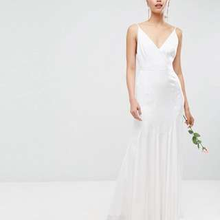 ASOS BRIDAL Cami Maxi Dress with Panelled Seam
