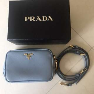 Prada baby blue small bag