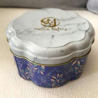 Mama Marble Floral Tin Container Holder Gift Box DIY Baking Accessories