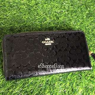 Coach Patent Large Wallet