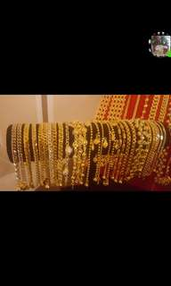 24k Gold Plated Korean Gold. Instock. Durable 2 to 3 yrs