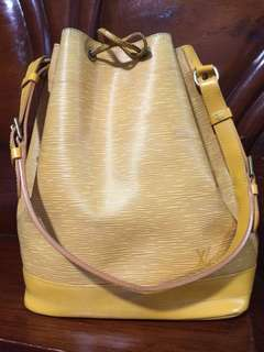 Authentic Louis Vuitton Epi Bucket Large Mustard