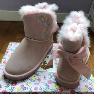 Gracegift Alice in wonderland fur-lined winter boots