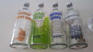 4 for $10 Absolut Vodka Bottle Empty