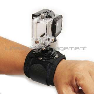 GoPro Rotary/Rotable/Rotation Wrist/Arm Strap/Straps/Band Mount/Adapter Hero/Hero2/Hero3/Hero3+/Hero4 Sony Action Cam JVC Adixxion