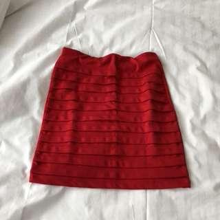 Red Mini Skirt 40cm
