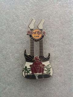 Hard Rock Cafe Pins - BRUSSELS HOT & RARE 2013 JEANNEKE PIS DOUBLE-NECK GUITAR PIN!