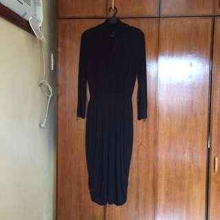Black pencil cut dress