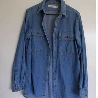 ASOS Oversized Blue Button Down Denim Shirt