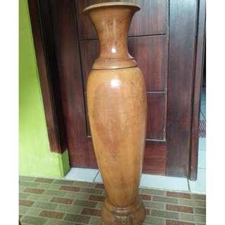 F07-Vas bunga bahan kayu