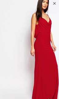 Club L Drape Front & Back Fishtail Maxi Dress