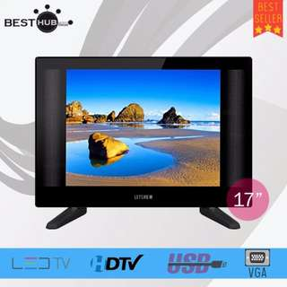 "Letsview 17"" Slim LED TV (Black) 