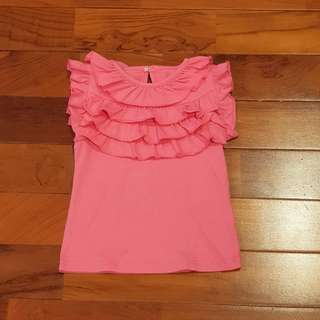 Girl ruffle pink top