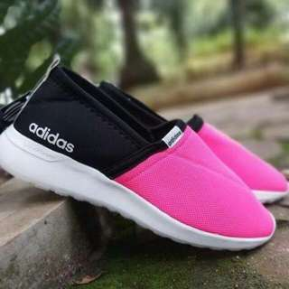 ADIDAS CLOUD FOAM SLIP ON BLACK-PINK (GRADE ORI) #IPB2018