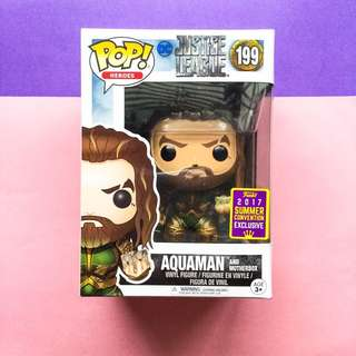 POP Movies: DC - Justice League - Aquaman with Mother Box Summer Convention Exclusive