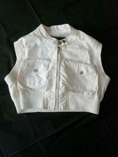 White bolero vest