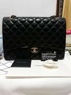 Chanel maxi lamb black ghw #17