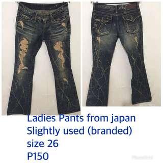 Preloved ladies pants size 26