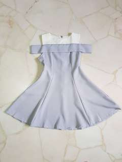 Korean-style cute and sweet dress (lilac)