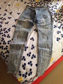 Washed Ripped Jeans