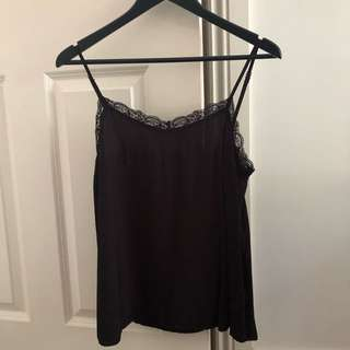 NUNUI Black Lace Top